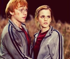 emma watson, hermione granger, and rupert grint image