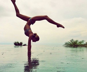 fitness, summer, and yoga image