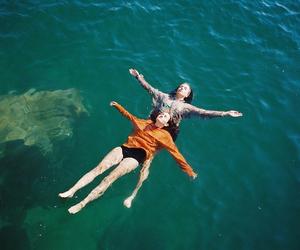 girl, people, and sea image