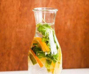 fruit, glass, and jug image