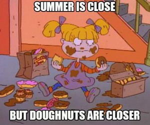 summer, donuts, and rugrats image