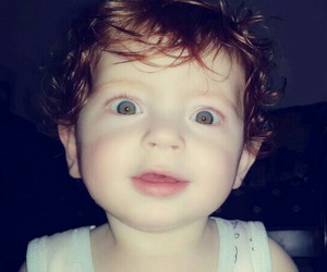 baby, boy, and his eyes image