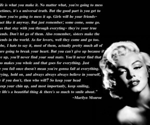 marilyn, quote, and Marilyn Monroe image