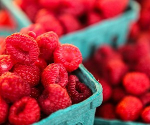 red, raspberry, and food image