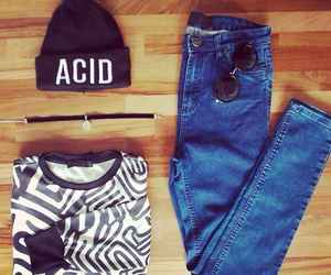 outfit, acid, and fashion image
