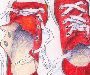 art, drawing, and shoes image
