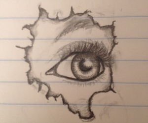 drawings and eyes image