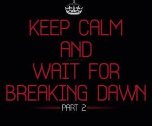 breaking dawn, keep calm, and breaking dawn part 2 image