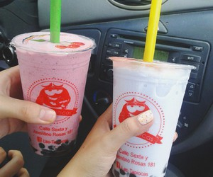 blueberry, bubble tea, and delicious image
