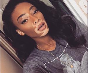 beauty, fashion, and nude lips image