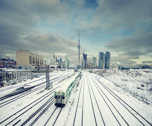 canada, city, and snow image