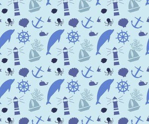 anchor, pattern, and sea image