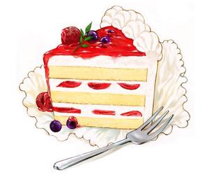 cake, sweet, and art image