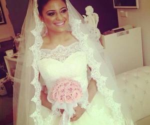 dress, wedding, and women image
