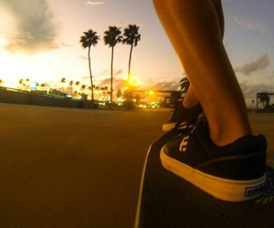 skate, summer, and skateboard image
