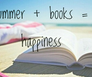 book, summer, and happiness image