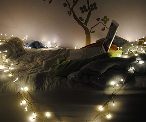 lights, bedroom, and cute image