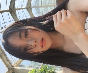 asian girl, lips, and eyes image
