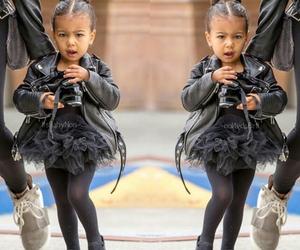 north west, kardashian, and fashion babies image