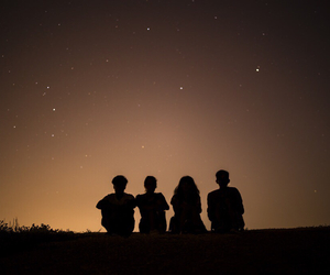 friends, friendship, and night image