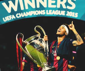 champions, neymar jr, and Barca image