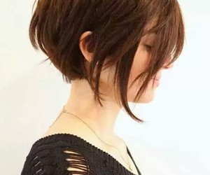 hair, short, and haircut image