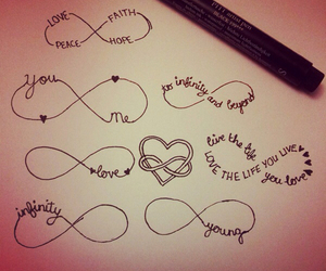 infinity, love, and heart image