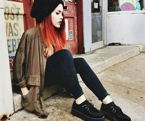 fashion, hair, and red image