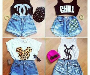 outfit, shorts, and chill image