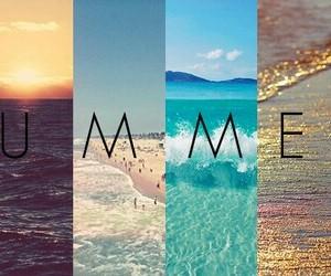 beach, bikini, and sea image