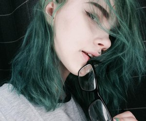 green, piercing, and tumblr image