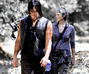 blue, purple, and the walking dead image