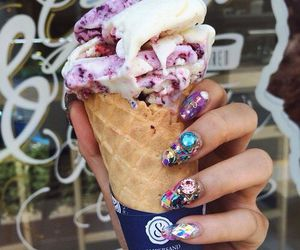 food, ice cream, and nails image