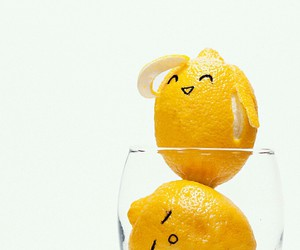 lemon, yellow, and funny image