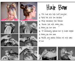 hair, bow, and hair bow image