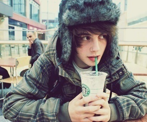 boy, cute, and starbucks image