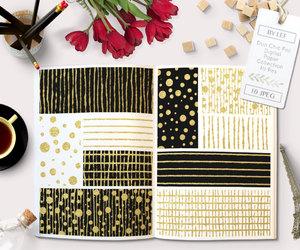 black, graphic design, and gold foil image