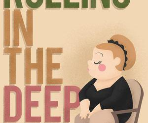 Adele and rolling in the deep image
