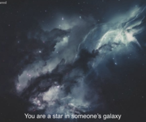 stars, quotes, and galaxy image