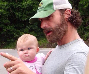 the walking dead, andrew lincoln, and baby image