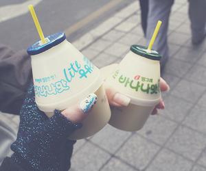 korea, milk, and banana milk image
