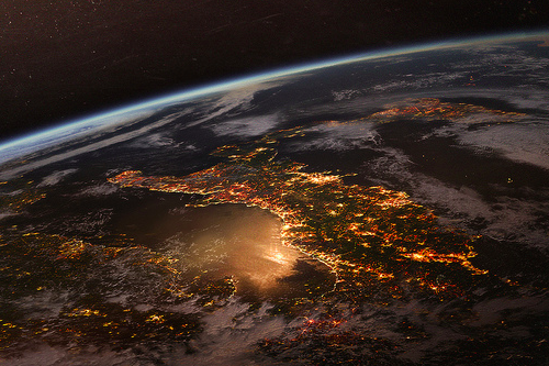 light, earth, and world image
