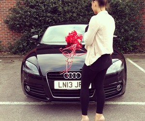 car, girl, and audi image