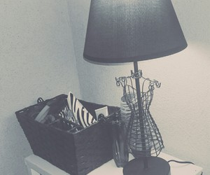 bedroom, black, and cool image