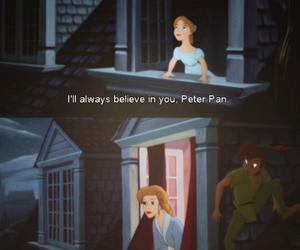 peter pan, disney, and wendy image