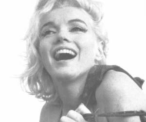 Marilyn Monroe and black and white image