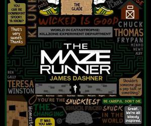 the maze runner, book, and thomas image