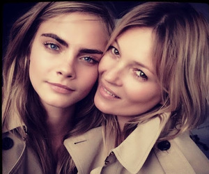 kate moss, cara delevingne, and models image