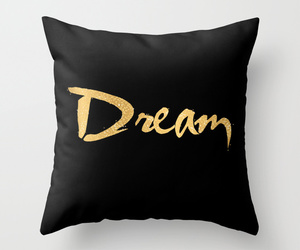 pillow, black, and Dream image