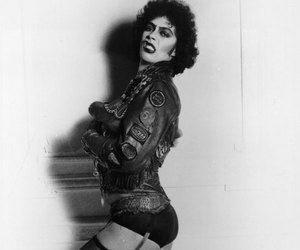 black and white, rocky horror picture show, and Tim Curry image